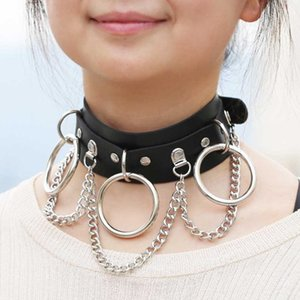 New Fashion Black Leather Choker Female Collar for Women Goth Punk Chain Necklace Sexy Vegan Chocker Festival Gothic Jewelry Gift for Women