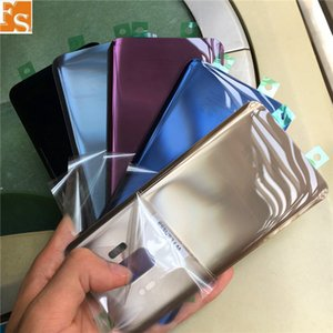 100pcs OEM for Samsung Galaxy S9 S9 PLUS Replace Battery Door Glass Back Cover + Adhesive with LOGO free DHL UPS FEDEX