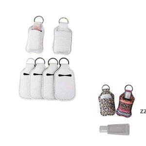 30ml Sublimation Blank Bottles Neoprene Party Perfume Holders SBR White Hand Sanitizer Set Bottle Holder Keychain Gift HWA8854