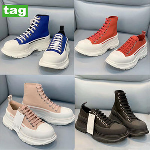 Yeni Moda Sırtı Slick Tuval Sneaker Erkek Kadın Koşu Ayakkabıları Yüksek Sole Üçlü Siyah Beyaz Kraliyet Soluk Pembe Kırmızı Platform Bayan Sneakers