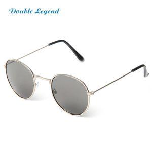 Солнцезащитные очки Двойная Легенда Мода Круглая Рамка Тренд Акриловый объектив Металл Солнцезащитные Очки для Женщин Мужчины Открытый UV400