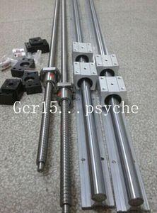 2 X SBR12-300 500 600mm linear rail guide &12 SBR12UU +3 RM1204=350 550 650mm ballscrew +3ballnuts +3 BK10 BF10+ 3 couplers CNC