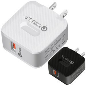 Quick Charge EU US QC3.0 USB Wall Charger Power Adapters For Iphone 7 8 Plus 11 12 Samsung Htc Android phone pc