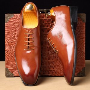 New Fashion Plus Size Oxford Leather From the Plutonium of Men in Business Dress British Wind Wedding Shoes Big Man 2021 Hecn
