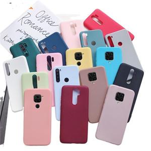 Candy color silicone phone case for xiaomi redmi note 9 pro max 9s redmi 9 9a 9c 9T 5g pro 8 8t redmi9 matte soft tpu cover