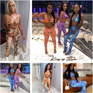 Women Wind New Designer Clothes 2021 Spring Fashion Slim Sexy Snake Printed Sports Suit Tracksuits