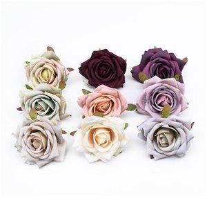 8 cm plantas artificiales Scrapbooking Rosas Cabeza de boda Flower Wall Decorative Guirnaldas Jarrones para la decoración del hogar FAKE JLLLGDA
