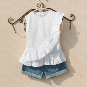Girls Summer Blouse Teenage School Girls Tops and Blouses Cotton White Shirt for Girl Solid Red Shirts Children Clothing 210225