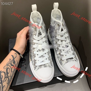 Dior B23 2020 Nom Marque Christian Homme Casual Chaussures Forever_ever Appartement Fashion West Fashion Cuir Rouge Lace-up High Top Top Trainer Chaussures 35-45
