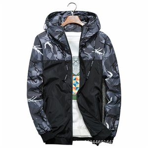 Men's Casual Camouflage Jackets M-6XL Slim Handsome Coat Spring Autumn Casual Solid Color Large Size Baseball Clothes