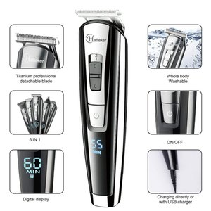Professional all in one hair trimmer waterproof hair clipper men beard trimmer nose ear haircutting machine face body groomer 210302