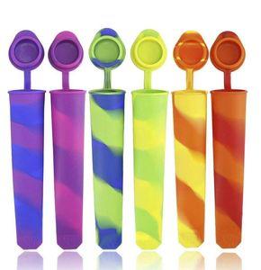 Silicone Ice Cream Maker Popsicle Moule de glace POP Lolly Moule BPA Silicone Popsicle Popsicle Popsicle Moules de glace Crème Maker KKA8350