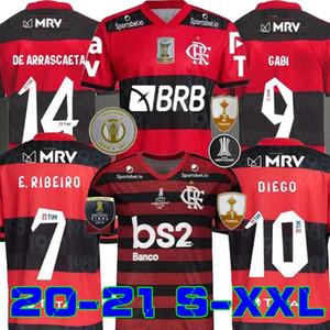20 21 Jersey Flamengo 2020 2021 Flamand Diego de Arrascaeta Ribeiro Soccer Jerseys Gabriel B. Henrique Football Sports Libertadores Gabi