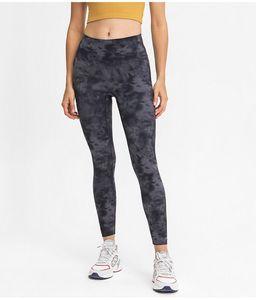 19037a NO T Tie Tie Dye Yoga Leggings Vita alta Ali GN Donne Pantaloni Yoga Pantaloni sportivi Gym Gym Indossare Leggings Elastico Fitness Lady Signora Colletti complessivi