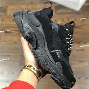 Высочайшее качество Мода Triple-S Обувь для ходьбы Папа Обувь Мужские Повседневные кроссовки для Женщин Винтаж Старый Старый Тренер Дедушки Открытые Обувь