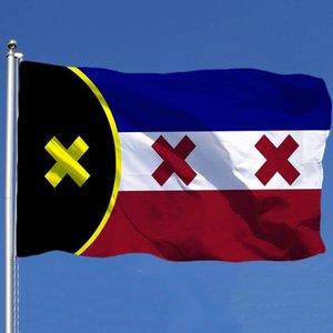 Banderas de la nación de Manberg Banners 3x5FT diseño de poliéster 150x90cm Indicador de impresión digital con dos ojales de latón W-00745