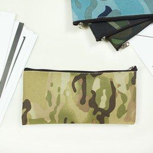 التمويه أكياس قلم رصاص بسيط المحمولة قماش حقيبة مستحضرات التجميل مكتب دراسة القرطاسية تخزين قلم رصاص 19 * 9.5 سنتيمتر zze5177