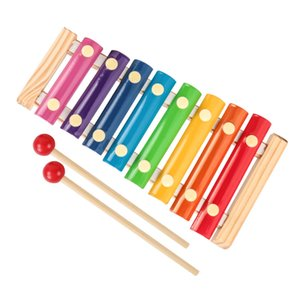 Wood octa-tone piano knocking children's toy building blocks early childhood enlightenment teaching organ percussion instrument
