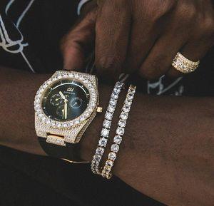Round Square Cut Mens Tennis Bracelet Zirconia Triple Lock Hiphop Jewelry Cubic Luxury Crystal Cz Men Fashion Charm B wmtVuX bdedome