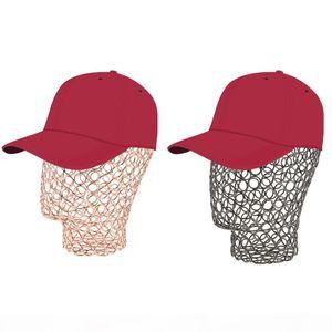 2Pcs Stable Metal Wire Mannequin Head Manikin Model Rack Wigs Hat Jewelry Headset Display Holder Rose Gold Black