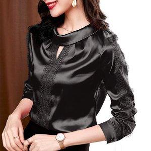 Free Shipping Woman Feminina Women'S Vintage Blouse Fashion Clothes 2021 Spring Autumn Black Long Sleeve Shirts Female D0106