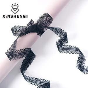 Lace Ribbon Bouquet Packaging 2.5cm 30 yd Material Handmade DIY Bowknot Flower Shop Colorful for Wedding Lovers Birthday Party