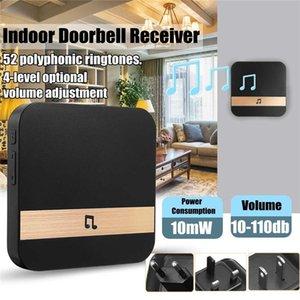 Doorbells AC90-250V Smart Indoor Doorbell Chime Wireless WiFi Door Bell US EU UK AU Plug App Control For EKEN V5 V6 V7 M3