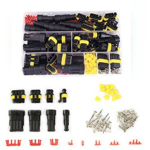 Dropship 352pcs HID Waterproof Connectors 1 2 3 4 Pin 26 Sets Car Electrical Wire Connector Plug Truck Harness 300V 12A Shipping