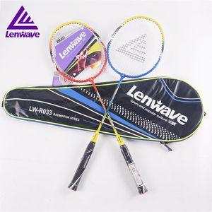2021lenwave 1 pair aluminum alloy junior raquette sports badminton