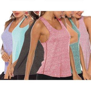 Dames Tanks Camis Summer Womens Deports Outfits S-XL Gym Sports Vest Gilet Fitness Jogging Yoga Débardeur 5 couleurs Chemises féminines