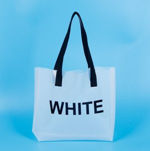 HBPPVC الصديقة للبيئة حقيبة التعبئة شفافة البلاستيك حمل حقيبة بيضاء شبكة التسوق المشاهير