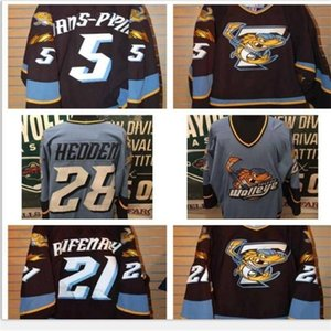 good Men Youth women Vintage ECHL 2010-11 Toledo Walleye 28 Mike Hedden 5 Simon Danis Pepin Jersey Size S-5XL or custom any name or number