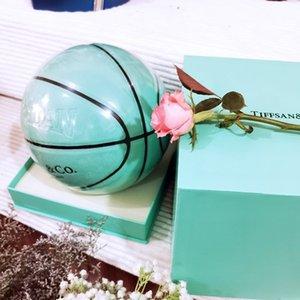 Basketball Blue Size 7 Pu moisture absorption Tiffany box version size 5 children's lettering gift