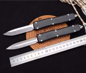 UT70 Round D2 double action tactical automatic auto knife folding edc camping knifes hunting knives xmas gift a5736