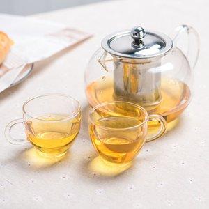 1 conjunto novo calor resistente ao calor chá de chá de chá de chá de chá de puer chaleira café bule de café com infuser 1 pc 950ml bule + 2 pcs copo 257 s2