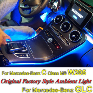 wholesale For Mercedes Benz C MB W205 or GLC 2014 2015 2016 2017 Dashboard Interior OEM Atmosphere advanced Ambient Light