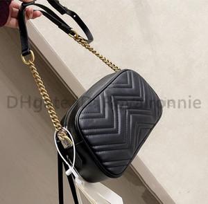 عالية الجودة الفاخرة اثنين g مصممين أكياس الأزياء النسائية حقيبة crossbody حقائب الكتف إلكتروني حقيبة السيدات محفظة 2021 سلاسل كاميرا جديدة حقيبة