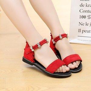 2020 Verão New Girl's Sandals Children Kids Shoes Cute Princesa Sole Sole Beach Casual Salto Loop Loop Shoes Calçado1