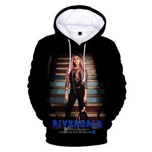 6kpopular Classic Serie TV Riverdale 3D Felpe con cappuccio Felpe uomo / donna Adolescente manica lunga con cappuccio moda casual pullover divertenti