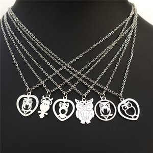 Stainless Steel Necklace Owl Pendant Women Girls Fashion Bird Jewelry Gift Mix Styles Wholesale