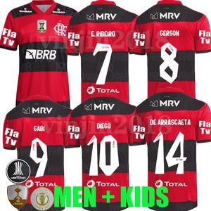 2021 2022 Flamengo Soccer Jerseys Camisa Gabriel de Arrascaeta B. Diego 21 22 Flamand Pedro Gabi Gabi Man Shirts Football Version Player Version