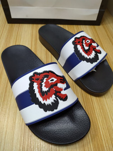 2021 Summer New Designer Slides Fashion Tiger Men Scuffs Slippers Hot Luxury Design Women Sandals Size 35-46