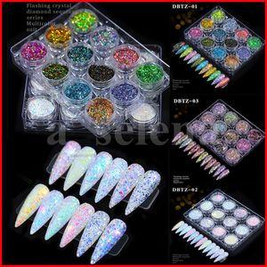 12 grilles ongles laser scintille sirène paillettes flocons brillant rond hexagone holographe paillette paillettes ongles décoration manucure