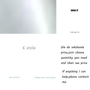 C 여성 소녀 진주 편지 머리 클립 새로운 도착 편지 Barrettes 패션 헤어 액세서리 선물 사랑 도매 가격 pixr