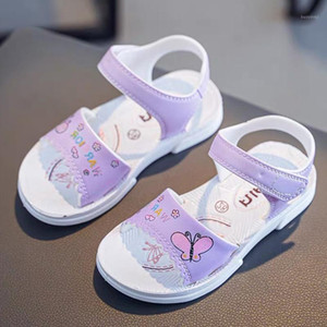 Kids Girls 2020 Summer Shoes Sandals Lovely Butterfly Shoes for Children Soft Girls Flat Pricness Toddlers Girl Sandalias1