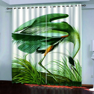 animal European Style 3D Curtain Luxury Photo Curtains For Living Room Bedroom Window Home Decor Blackout Shade Kitchen Drapes