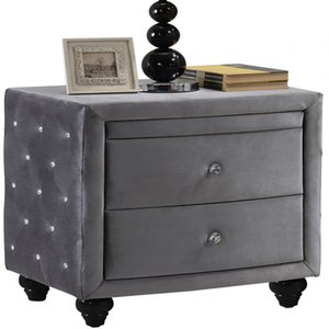 Advanced Beautiful Living room Bedroom Furniture Practicable Metal Solid wood Gary Nightstands or Home Hotel