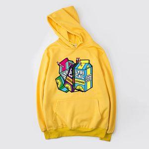 Lyrical Lemonade Hoodie Women Men Hip Hop Sweatshirt Funny Music Oversized Hooded Streetwear Thin Velvet Warm Hoodies X1021