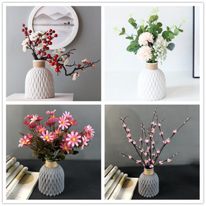 Plastic Vase European Style Home Decoration Vase Anti-ceramic Plastic Unbreakable Wedding Dried Flowers Plants Hydroponic Pots OWF5132