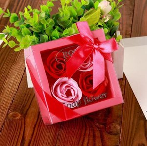 Soap Flower Creative High Grade Box Packed Artificial Roses Romantic Valentine's Day Gift Birthday Wedding Flowers OWC6374